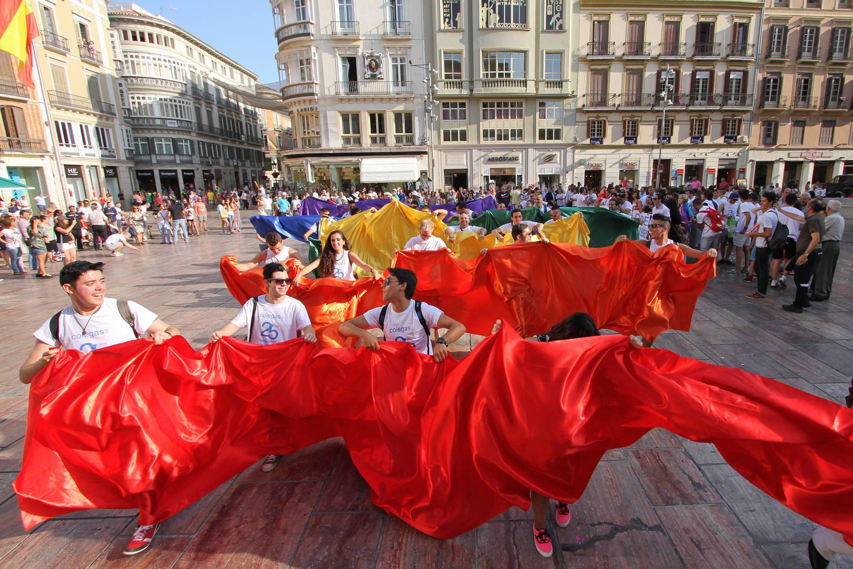Marcha del día internacional del Derecho LGBT en Málaga