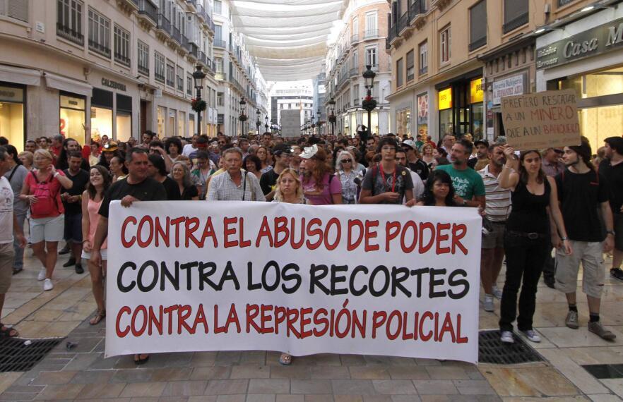 Marcha en Málaga contra los Recortes y por la Minería 1342215905909