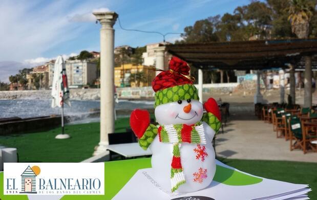 Menú navideño en Baños del Carmen