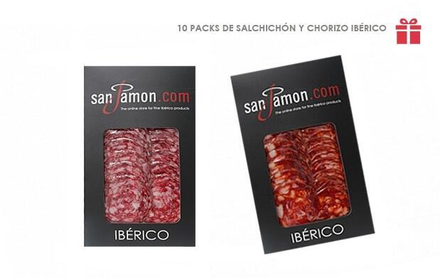 10 Packs de Salchichón y Chorizo Ibérico