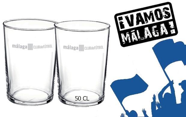 ¡Brinda por el Málaga! 6 vasos x 3€ (50cl)