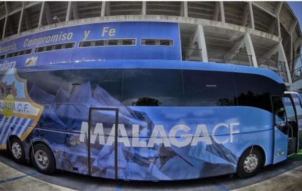 Visita turística y actividades en el autobús oficial del Málaga C.F.
