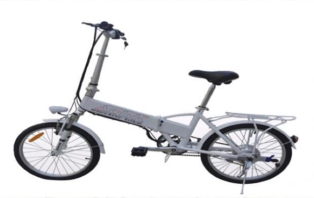 Bicicleta eléctrica plegable con motor