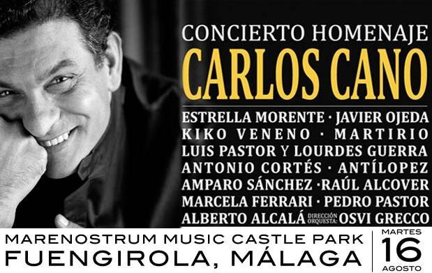 Entradas para el concierto homenaje a Carlos Cano