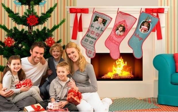 Calcetín de chimenea personalizado para Navidad