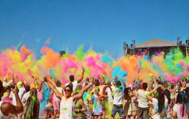 Invitación al Festival Holi Colours + Menú para 2 en Restaurante Katogui