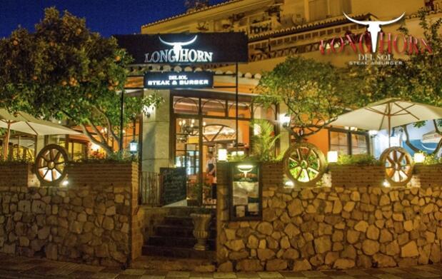 Menú para dos en Longhorn del Sol