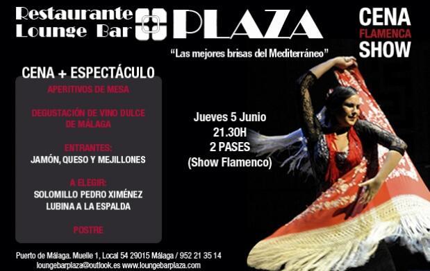 Cena y espectáculo flamenco en Lounge Bar