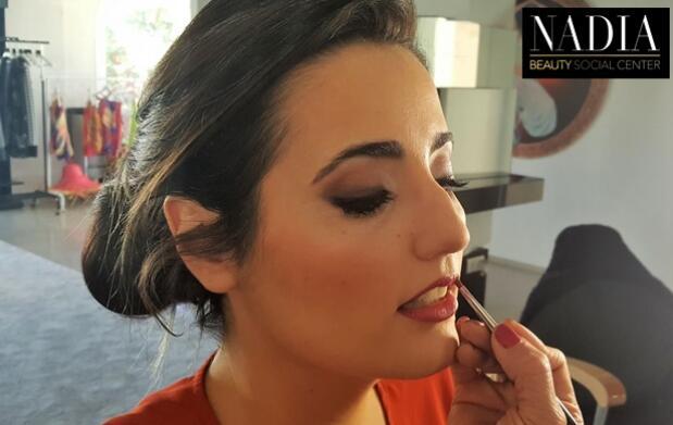 Peinado y maquillaje en Nadia Beauty