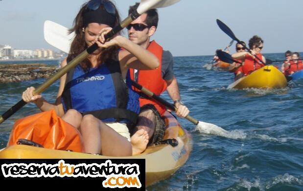 Ruta en kayak por Rincón de la Victoria
