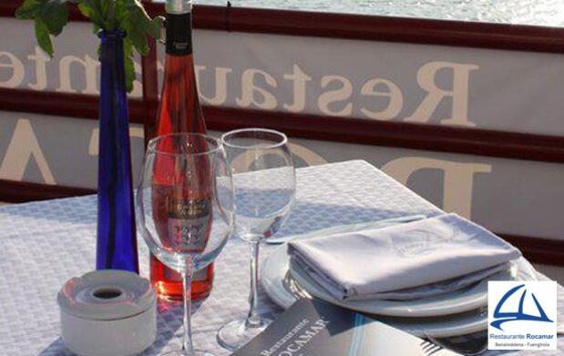 Menú marinero para dos en restaurante Rocamar