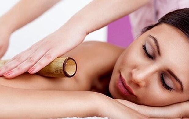 Masaje de bambuterapia más masaje shiatsu