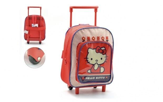 Mochila con ruedas de Hello Kitty