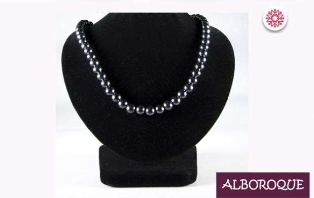 Conjunto de collar, pulsera y pendientes de hematite imantado