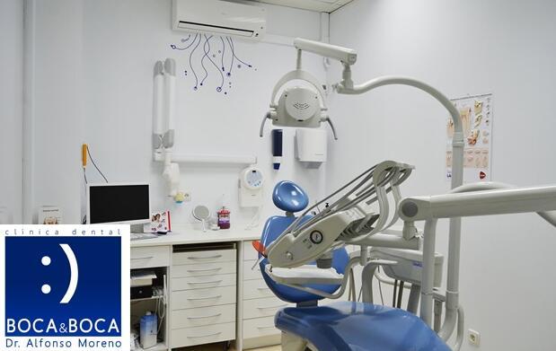 Limpieza dental, fluoración y revisión con radiografía