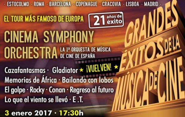 Invitación a Cinema Symphony Orchestra + Menú en El Fogón del Alcázar
