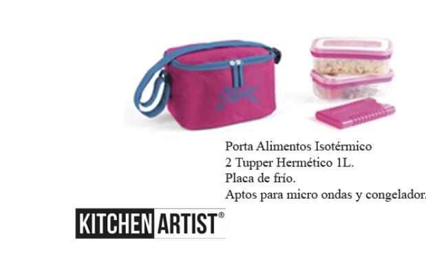 Porta Alimentos + 2 Tupper Herméticos