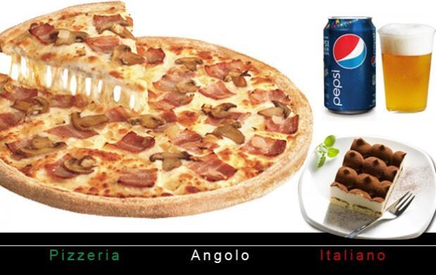 2 Pizzas medianas, bebidas y postre a domicilio