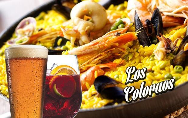 Caseta Los Coloraos Paella + cerveza o tinto