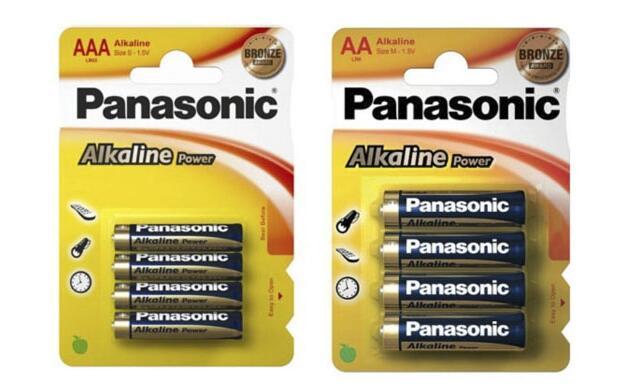 96 Pilas alcalinas Panasonic por 24.99€