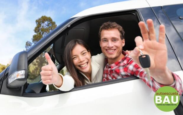 Carné de conducir B: Curso intensivo, material y 6 prácticas