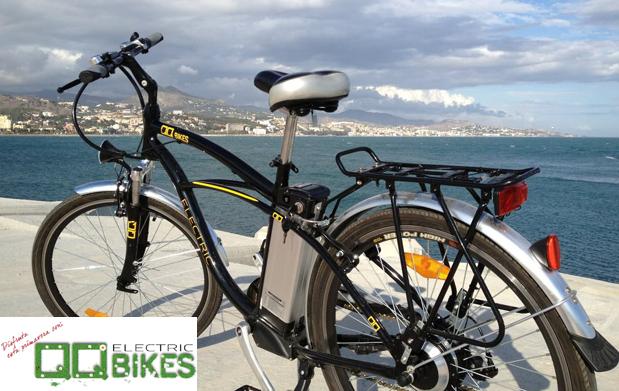 Alquila tu bici eléctrica: medio día 7,5€