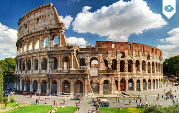Escapada de 3 días,2 noches+vuelo a Roma