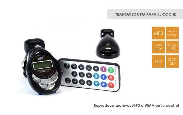 Transmisor FM para el coche