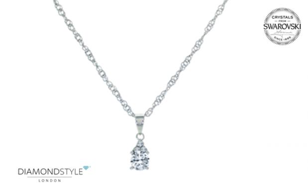 Colgante Trinity con Swarovski Crystals