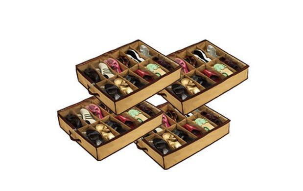 4 zapateros con capacidad para 12 pares
