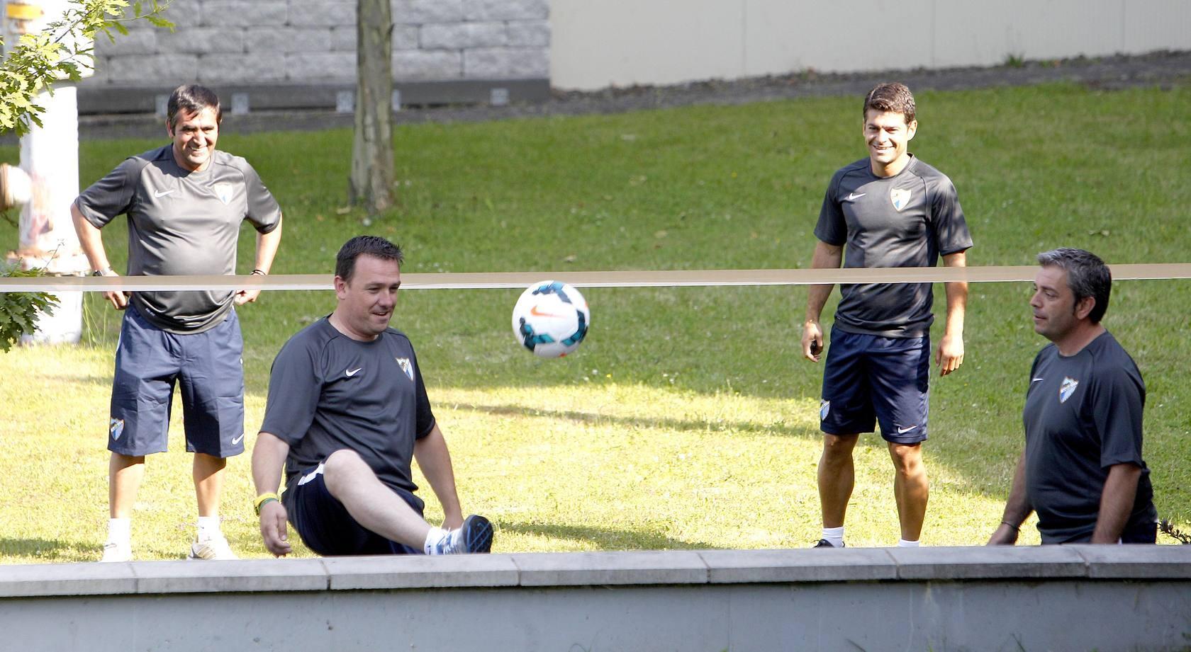 El Málaga CF entrena con la baja de Antunes