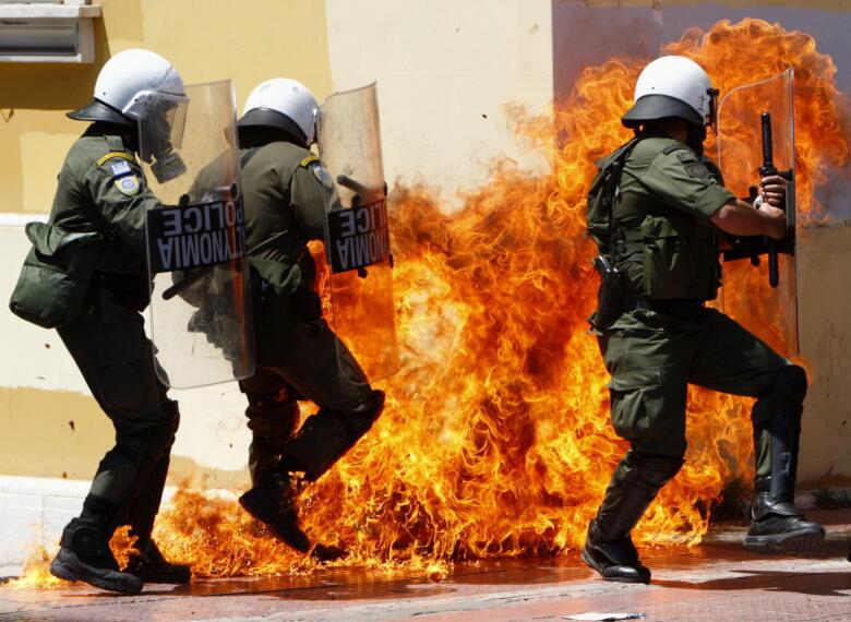 1º de Mayo revolucionario en Grecia 1272713762350