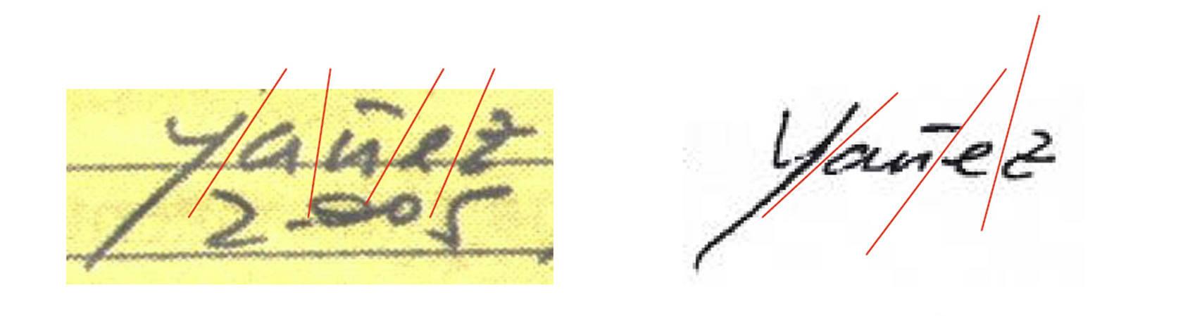 Pruebas caligráficas de Bárcenas