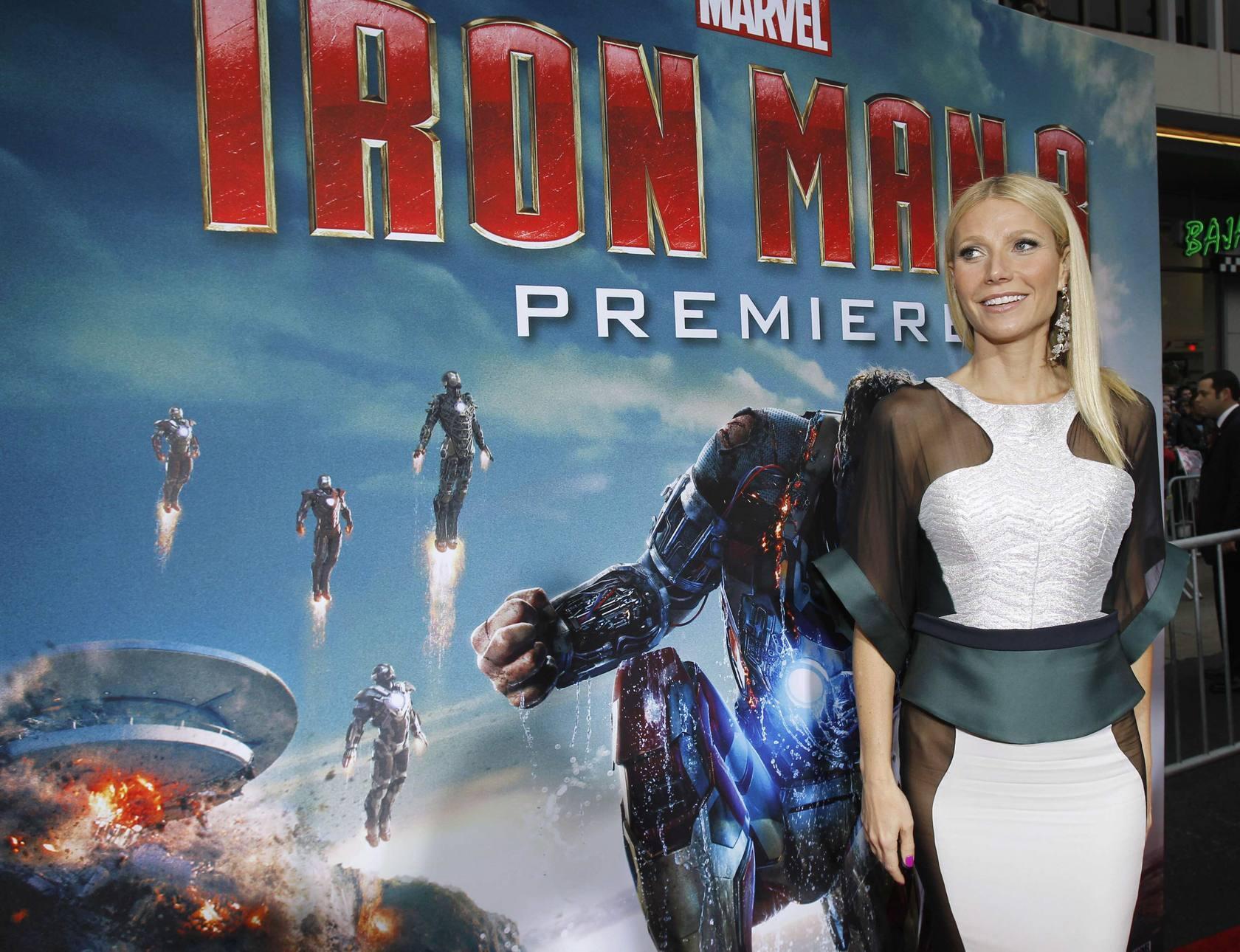 Las transparencias de Gwyneth Paltrow deslumbra en el estreno de Iron Man 3