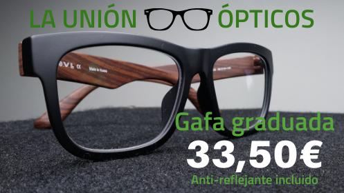 Gafas graduadas con lentes anti-reflejantes al mejor precio
