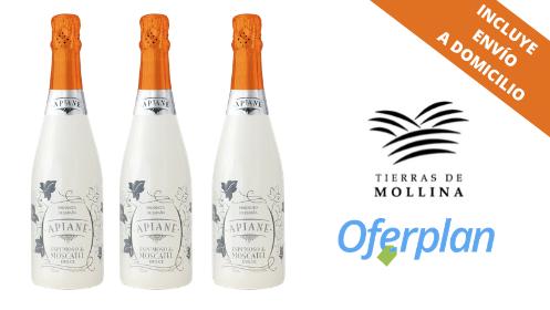 Pack de 3 o 6 botellas de Apiane Espumoso Moscatel con envío incluido