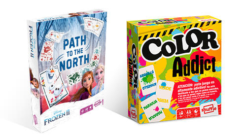 Juego de cartas de Frozen II Path The North + Color Addict