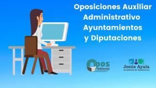 Curso online para Auxiliar Administrativo de Aytos y Diputaciones