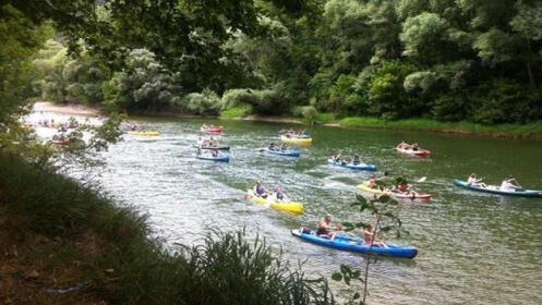 Descenso del Sella en canoa