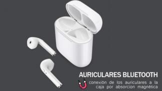 Auriculares bluetooth In Ear con base de carga