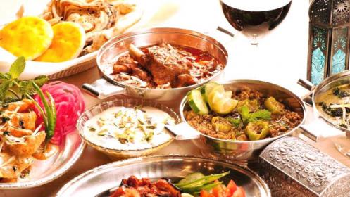 Plan para 2 o 4 personas: menú hindú o mexicano