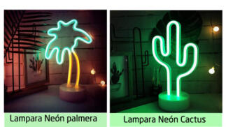 Lámparas neón decorativas