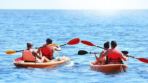 Una hora de alquiler de kayak para dos personas por 12€