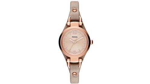 mirada detallada marcas reconocidas compra venta Regalos Día de la Madre: reloj Fossil de pulsera acero color rosa y piel
