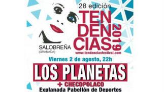 Entrada concierto Los Planetas – Festival Tendencias - 2 agosto Salobreña