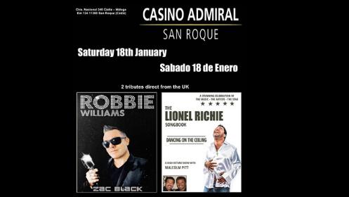 Entrada Tributo Lionel Richie y Robbie Williams – 18 de enero