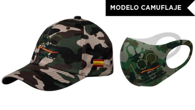 Pack de gorra y mascarilla de La Legión