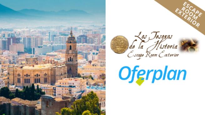 Escape room exterior histórico en Málaga capital por 19€ por persona